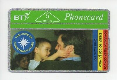 BT Phonecard BTG020, Ghosts of Christmas Future, Romanian Relief, mint unused