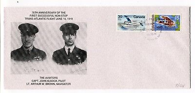 Canada / Newfoundland 1994 Airmail Flight Anniversary Alcock / Brown OVPT Cover