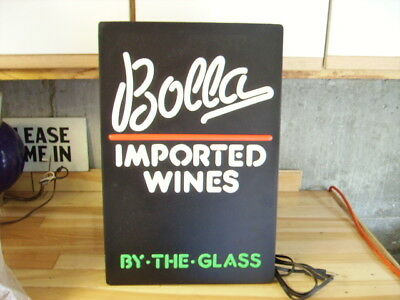 Bolla Imported Wine Plastic Lighted Wall Sign - New Old Stock