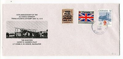 """Canada / Newfoundland 1994 Airmail Flight Anniversary - """"Hawker"""" Cover # 8 of 75"""