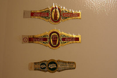 Coca Cola & Sprite Cigar Bands 1933