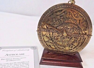 The Franklin Mint 1987 Astrolabe Sundial w/ COA Great Instruments of Discovery