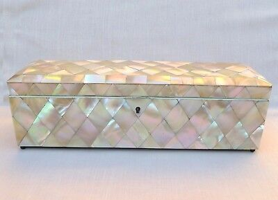 Good Antique Mother Of Pearl Glove Box