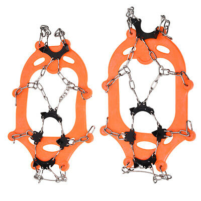 FP 1 pair of 8 Teeth Claw Boat Crawl Slip Cover Stainless Steel Chain Outdoor Ic