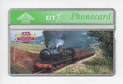 BT Phonecard BTG105, Keighley & Worth Valley Railway, 125 years, mint unused