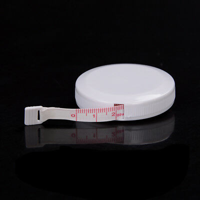 150cm 60 inch Push Button White Case Soft Retractable Tape Measure FTUK