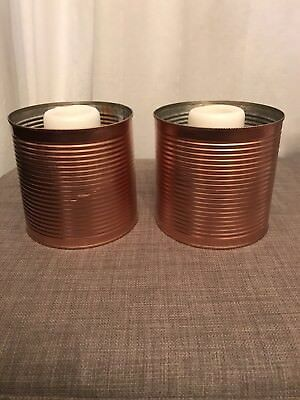 Large Copper Tins Candles Wedding Theme Table Decoration