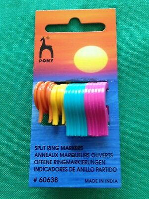 Pony Split Ring  Stitch Markers For Crochet Or Knitting - Pack Of 24 - Two Sizes