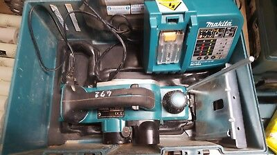 Makita BKP180Z 18V Cordless LXT Planer with charger and case only  STK #(472)