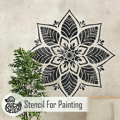 KERALA Mandala Indian Circular Stencil - Furniture Wall Floor Stencil for Paint