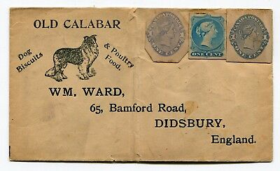 Canada Postal Stationery - QV Cut Squares on Dog Biscuit Return Cover - Unused