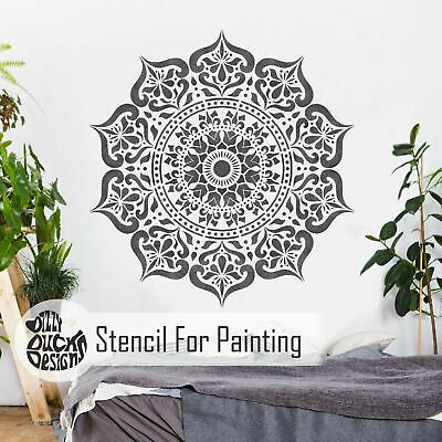 MANALI Mandala Indian Circular Stencil - Furniture Wall Floor Stencil for Paint