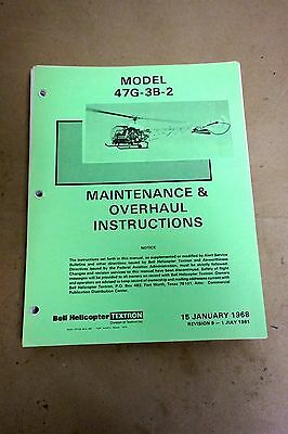Original Bell 47 Helicopter Maintenance & Overhaul Manual
