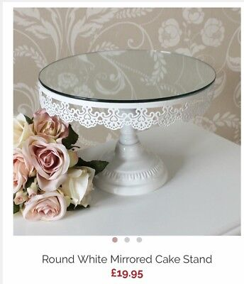 Cake Stand Wedding Afternoon Tea Lace White Mirrored