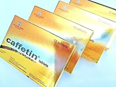 Caffetin 3 X 12 tablets best for headache , toothache , muscle aches Alkaloid