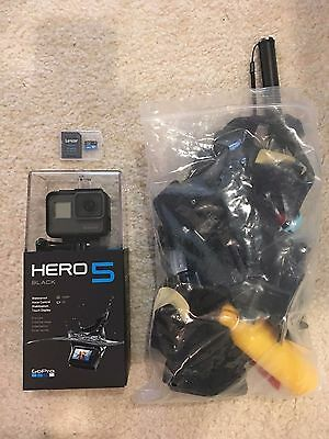 GoPro Hero 5 Black Edition Action Camera with 64gb Micro SD card, Accessory Kit