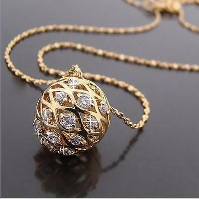 18K Gold Plated Chain Necklace with Swarovski elements Pendants gift for her UK