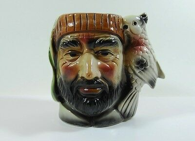 Vintage Pirate With Cockatoo Toby/Character Jug made in Japan 1960's