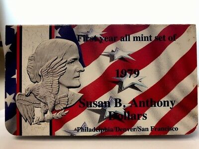 Susan B. Anthony Dollars (First Mint Set of Dates) P-D-S