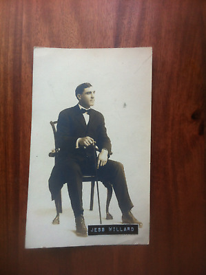 Super Rare Vintage Original JESS WILLARD  Boxing PHOTO 4 3/4in X 8 in