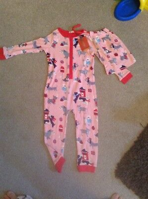 John Lewis All In One Jumpsuit/ LoungewearGirls Age 2 Brand New Christmas Design