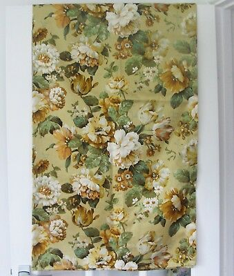 Sanderson Vintage Floral Curtains : Fabric : Classic Golds & Greens Shabby Chic