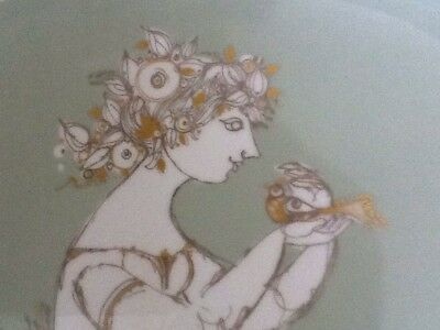 Beautiful Rosenthal Studio Linie Large Heavy Wall Plate, Signed On Back& Front