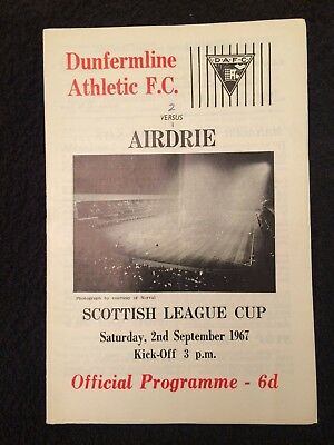 Dunfermline Athletic v Airdrie Scottish League Cup 1967