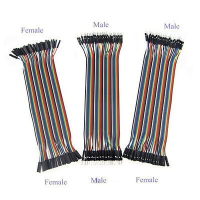 120pcs 20cm Dupont Ribbon Line Cable Breadboard Arduino Jump Wire Jumper