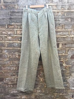 job lot 3 pairs of vintage retro trousers french work wear , cotton , grandad
