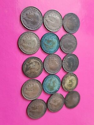 solid silver 3 pences all pre 1920s