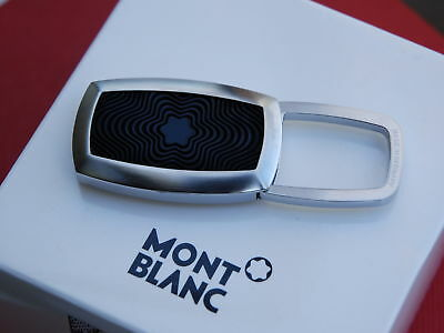 Montblanc 102994 Contemporary Collection Stainless Steel & Rubber Inlay Key Ring