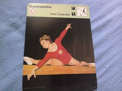 Vera Caslavska new gymnastics legend sportscard