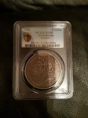 1821 Silver Crown Coin Secundo. PCGS Graded