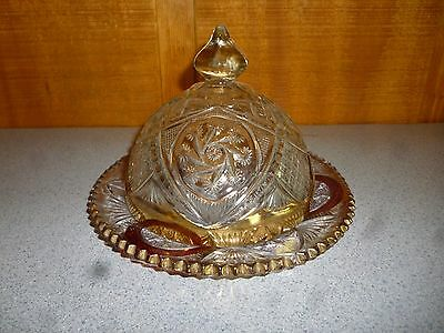 USED Vintage Covered Dish Colored Glass
