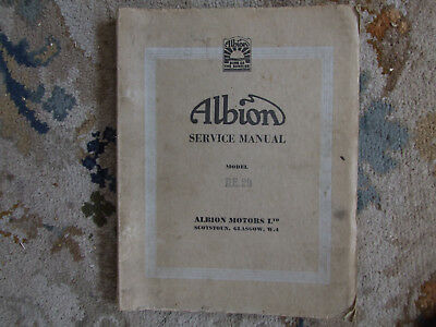 Albion Lorry Workshop Manual
