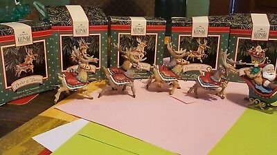 hallmark santa and his reindeer collection 1992 original boxes