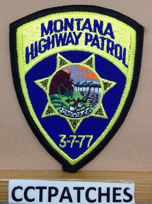 Montana Highway Patrol Police (Small) Shoulder Patch Mt