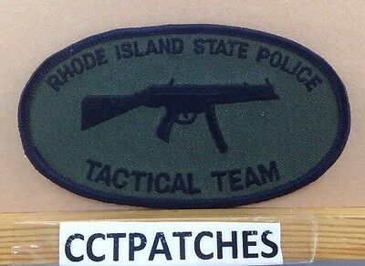 Rhode Island State Police Tactical Team Subdued Shoulder Patch Ri