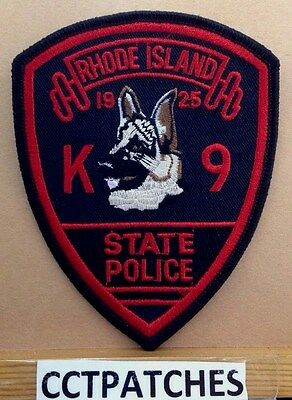Rhode Island State Police K-9 Shoulder Patch Ri