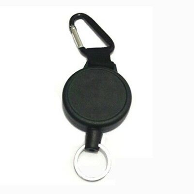Heavy Duty Retractable Key Chain & Badge Reel Holder Carabiner Clip - Swive V1S5