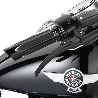 Arlen Ness Black Deep Cut Soft-Touch Grips for 2008-2017 Harley Throttle-by-Wire