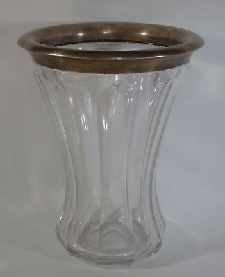 Antique German Art Deco Vase-Silver & Cut Crystal-Hermann Behrnd (Dresden)
