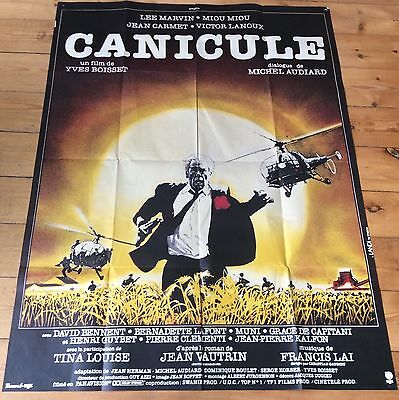 Vintage French Film Poster Canicule Starring Lee Marvin 1960's