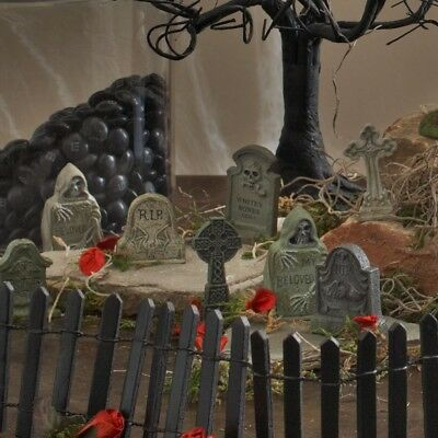 Halloween House Yard Decoration Spooky Department 56 Village Tombstones St/6 New