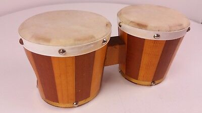 Beautifully Crafted Wooden Mexican Bongo Drums Free UK P&P