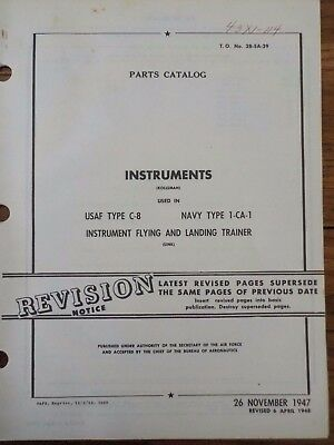 Technical Orders Instruments # C-8 1-CA-1 instruments Flying & Landing Trainer