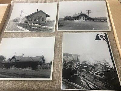 Train Photos: Lehigh Valley RR: Set of Four 8x10 Stations