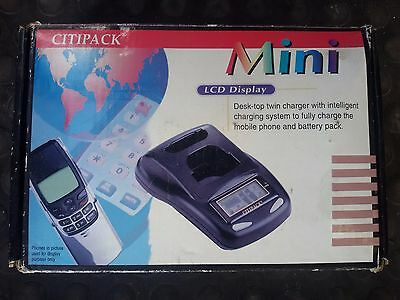 CARICA SCARICA DISPLAY Telefono Cellulare Vintage Desktop Twin Charger CITIPACK