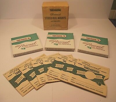 Viewmaster Personal Stereo Reel Mounts (16) and Envelopes (24)